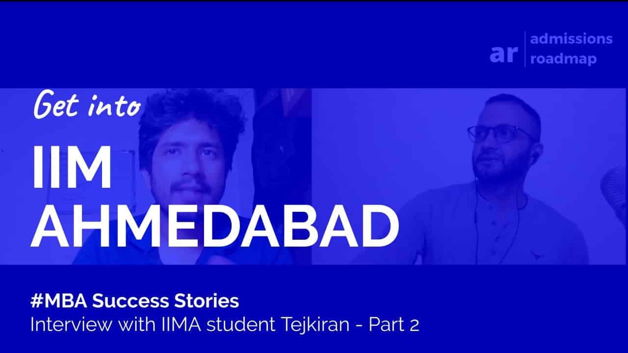IIM Ahmedabad PGP MBA student interview