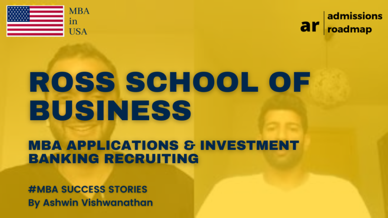 Michigan Ross School of Business MBA Application