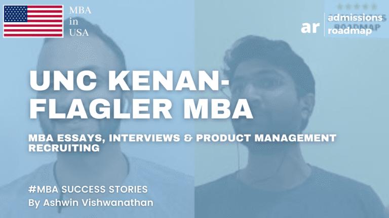 UNC Kenan Flagler MBA application