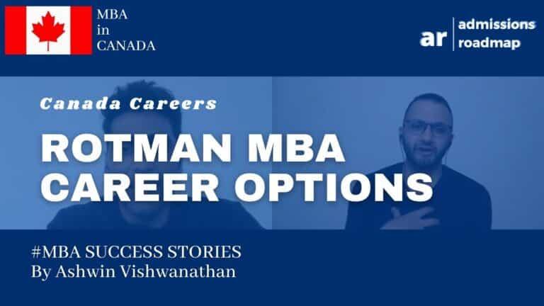 Rotman MBA Careers